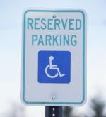 reserved parking disabled handicap